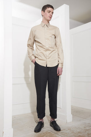 Lemaire Straight Collar Shirt Beige