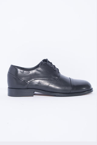 Royal Republiq Extend Toe Cap Derby Shoes Black
