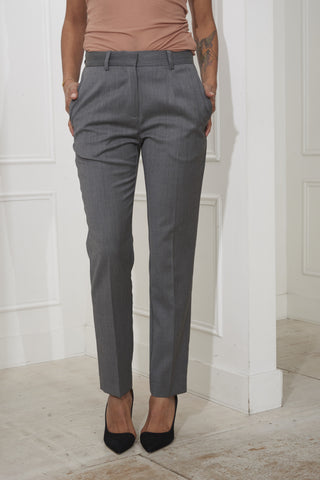 Wood Wood Leonor Trousers Grey Melange