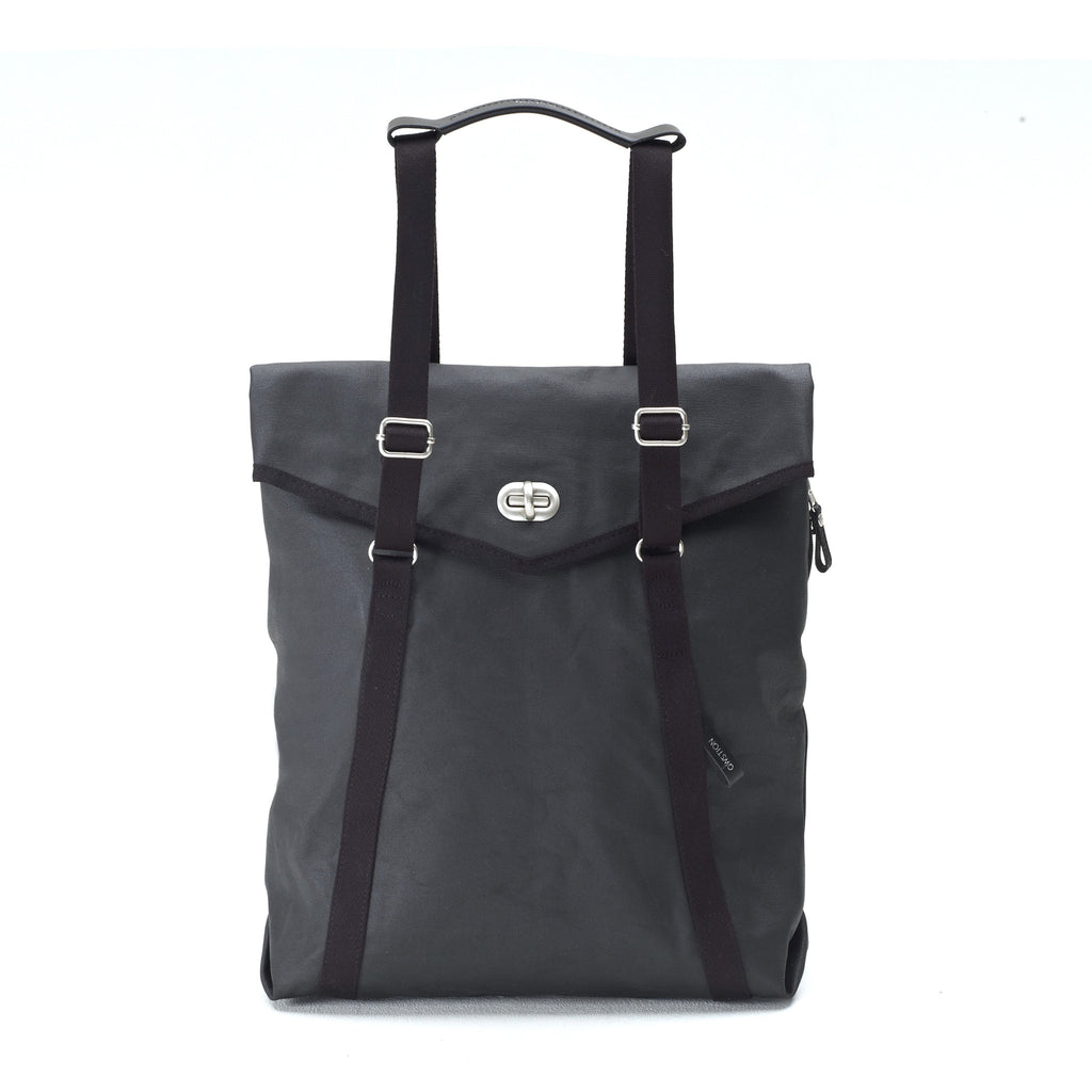 Qwstion Tote Bag Washed Jet Black