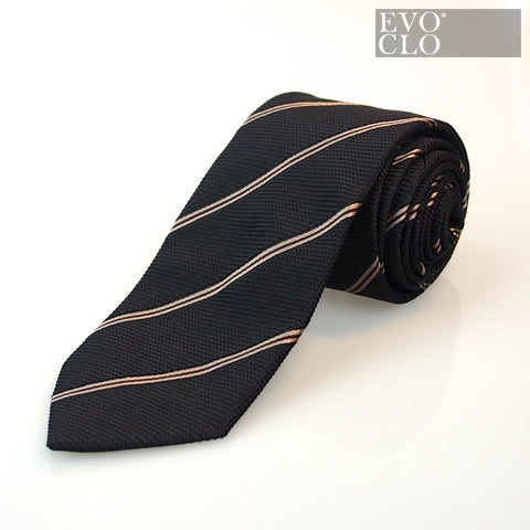 Bronze Black Striped Handmade Tie