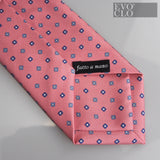 Pink Silk Tie with Florals