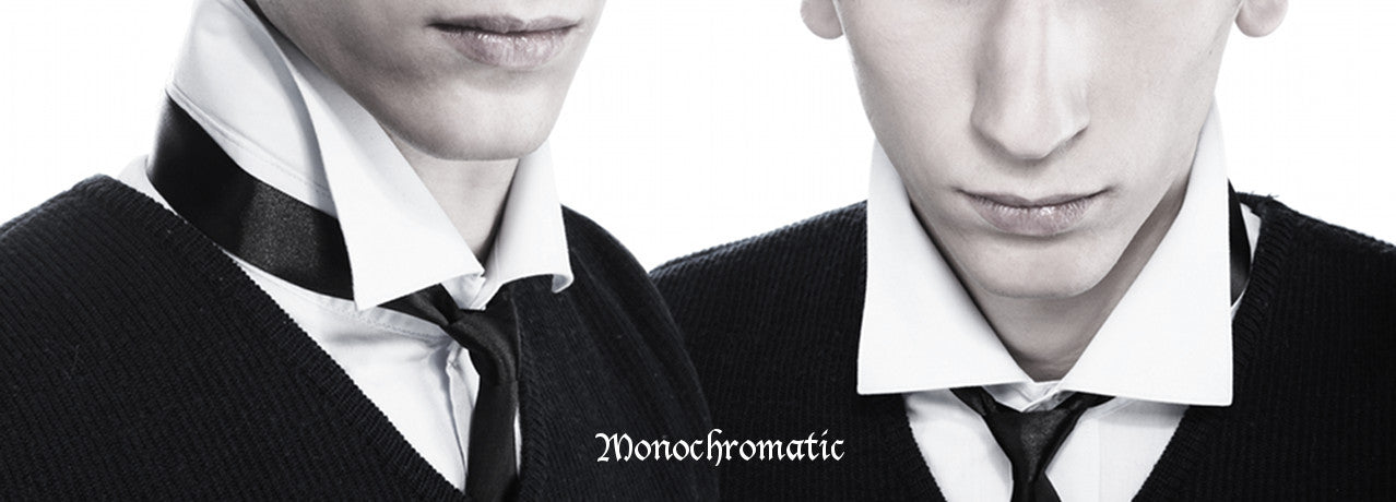 Monochromatic - edgy black and white designer ties
