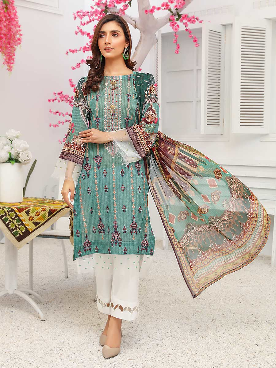 Aalaya Embroidered Swiss Lawn Vol 14 '21 D#01