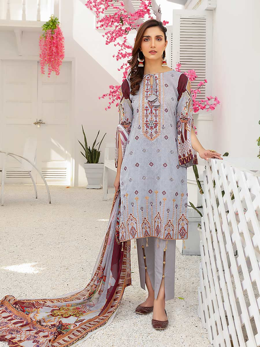 Aalaya Embroidered Swiss Lawn Vol 14 '21 D#07