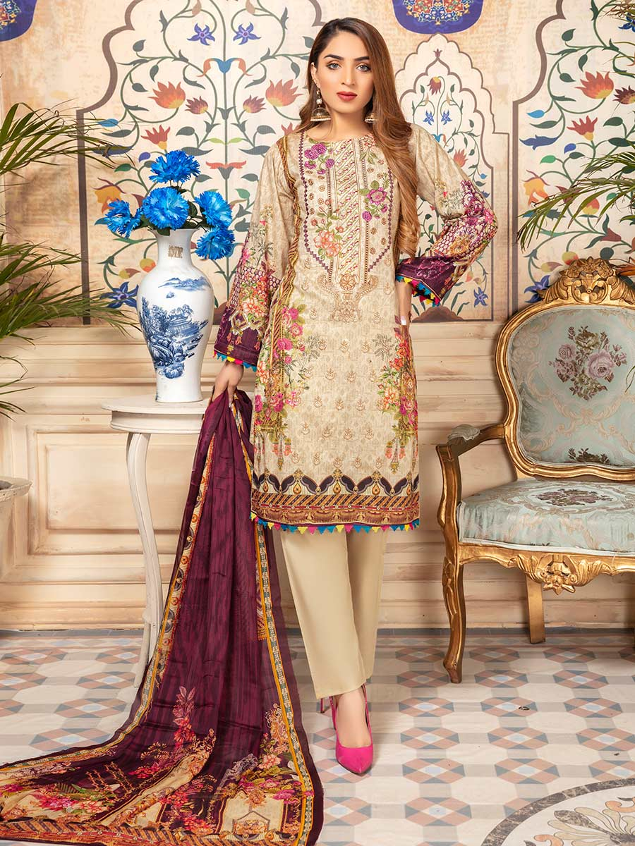 Aalaya Embroidered Lawn Vol 07 '21 D#06