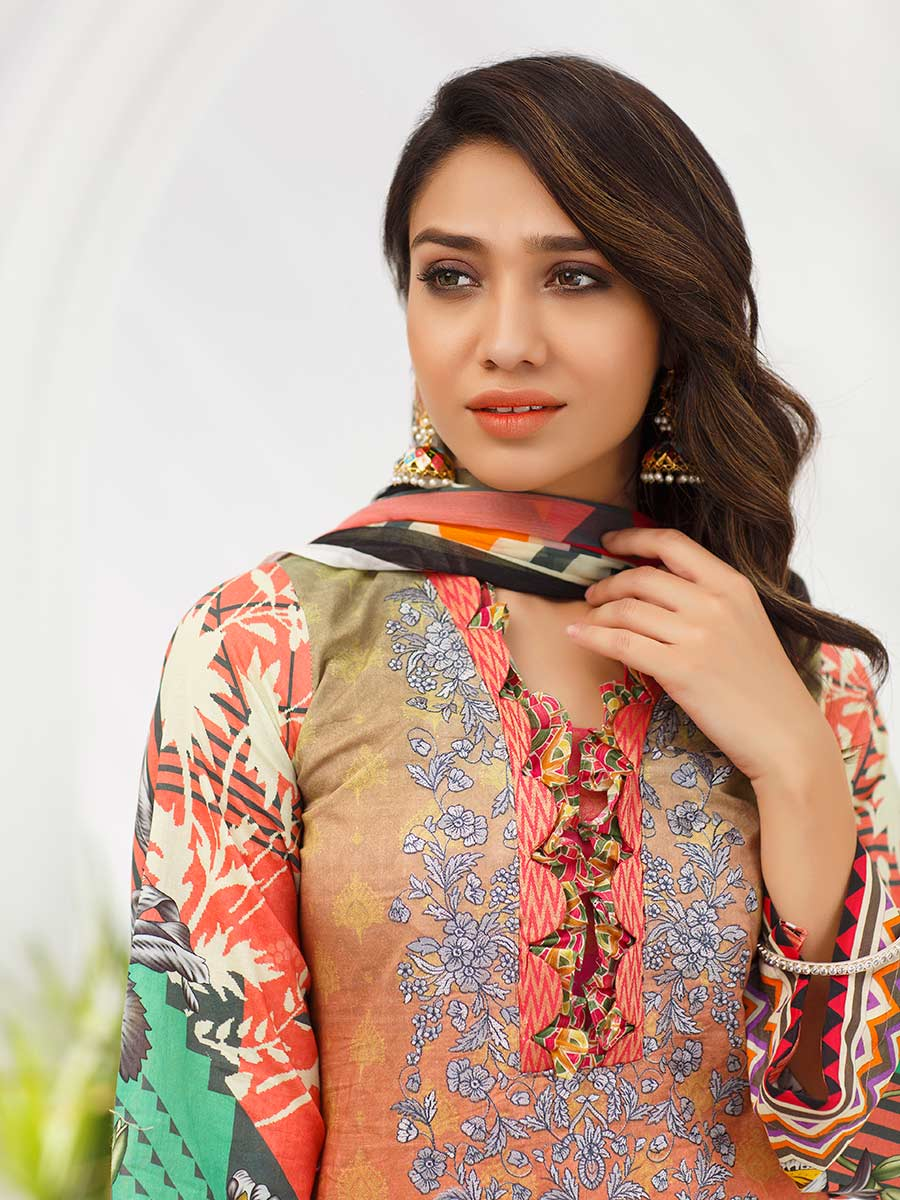 Aalaya Embroidered Lawn Vol A1 '21 D#04
