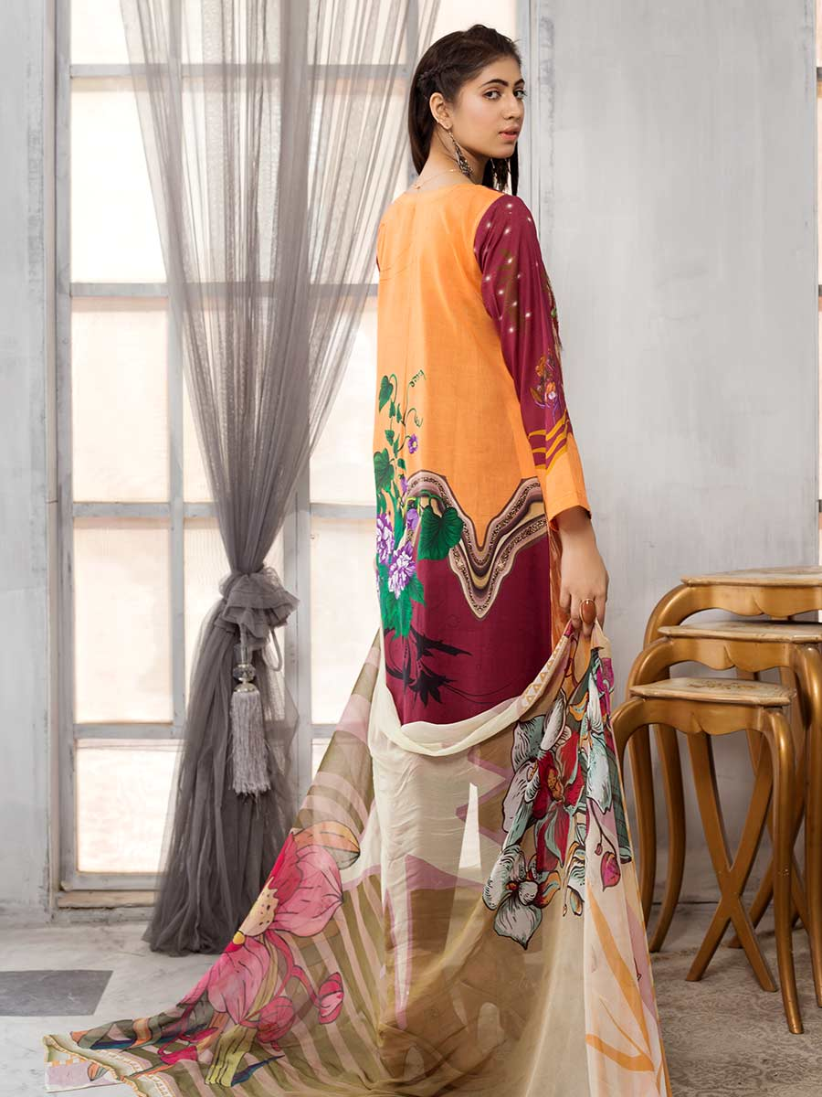 Aalaya Brosha Embroidered Lawn Vol A13 2021 D#10
