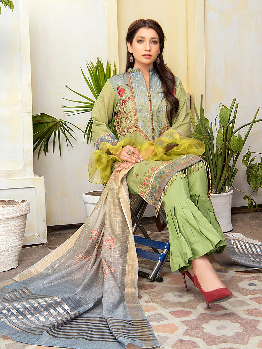 Aalaya Embroidered Lawn Vol A14 2021 D#06