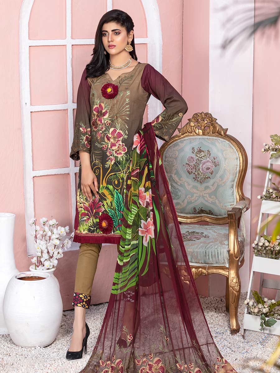 Aalaya Embroidered Lawn Vol A15 2021 D#10