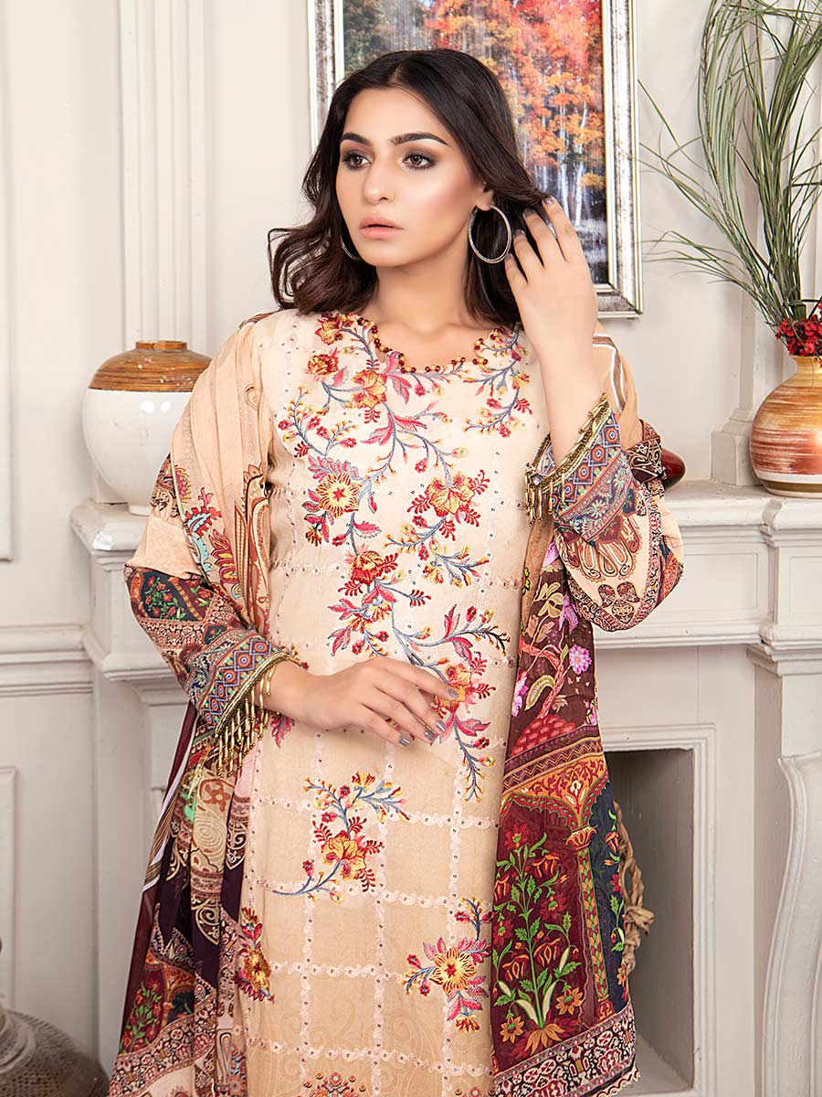 Aalaya Embroidered Swiss Lawn Vol A17 2021 D#07