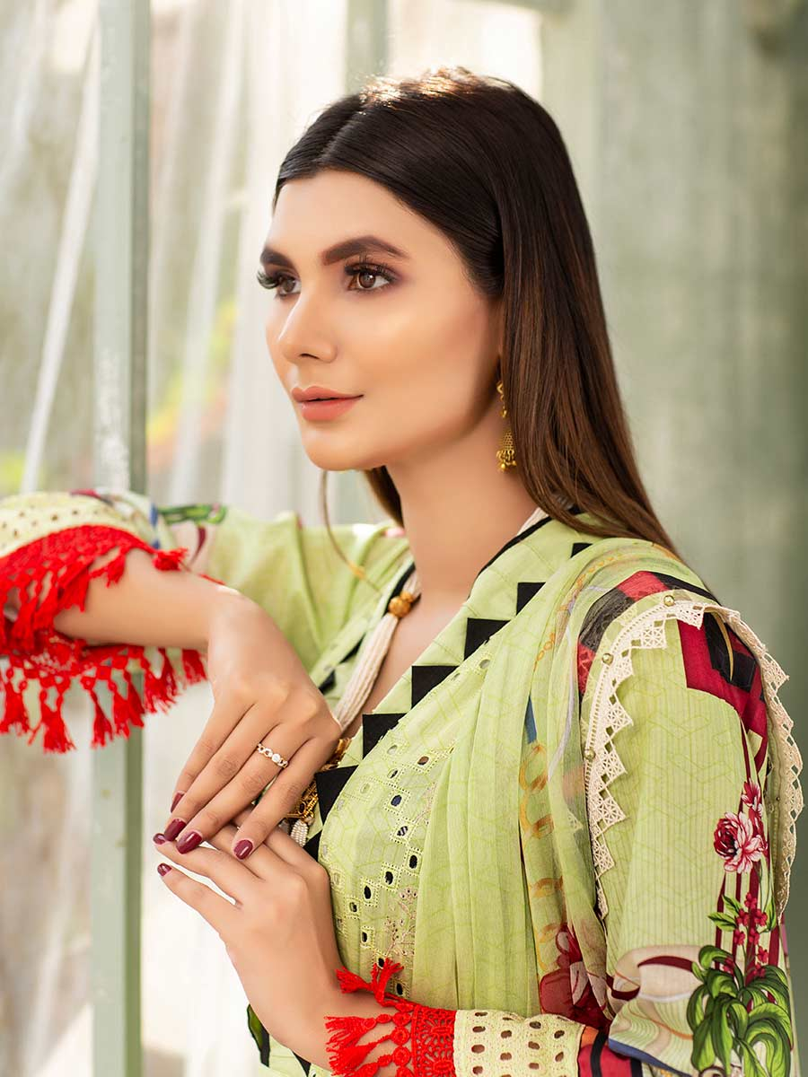Aalaya Embroidered Stitch Lawn Vol A6 2021 D#04