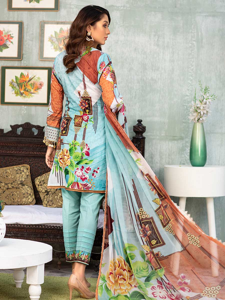Aalaya Embroidered Lawn Vol A6 2021 D#06