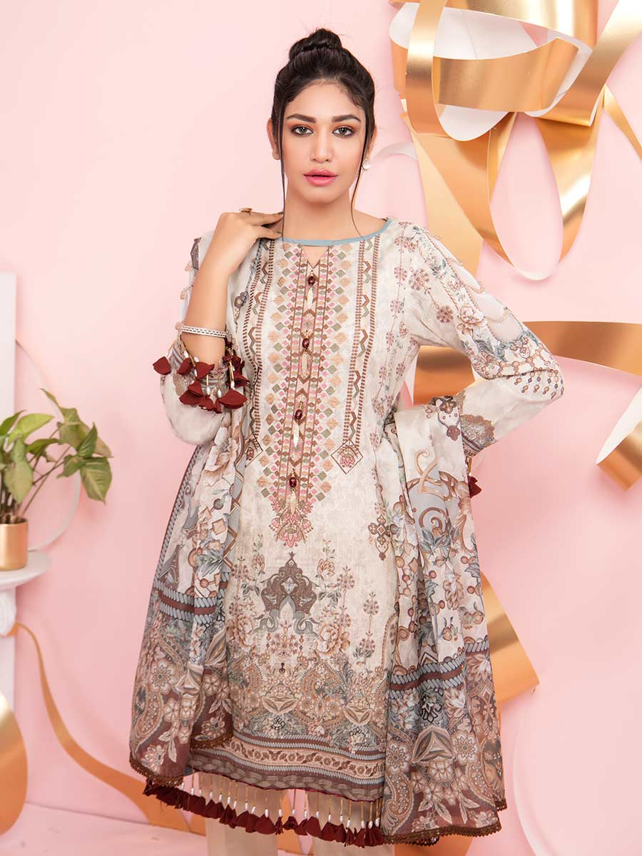 Aalaya Mother Collection Lawn Vol B8 2021 D#08