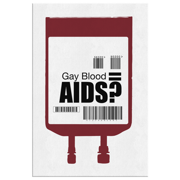 Gay Blood by James Balderson Canvas Wrap