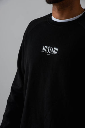 Mens 90s Crewneck Sweater in Black