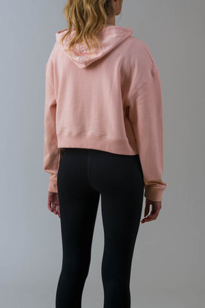 Ladies Axel Crop Hoody in Pink