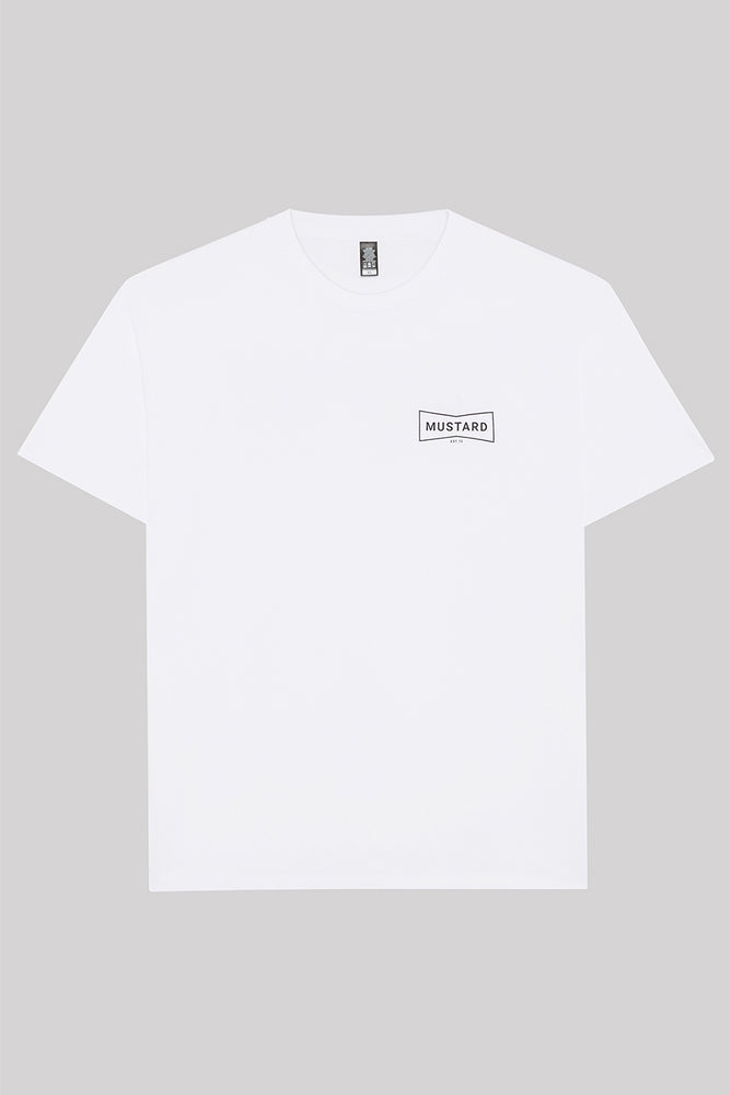 Mens Box II Monochrome Tee in White