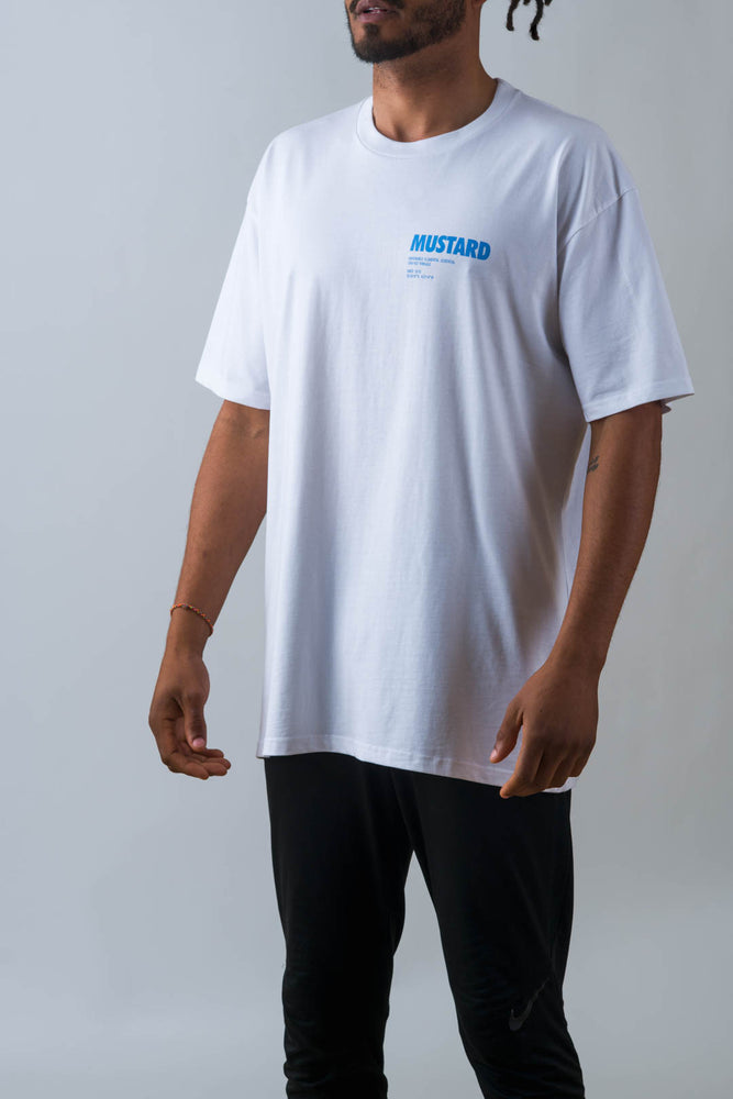 Mens Pillars Tee in White