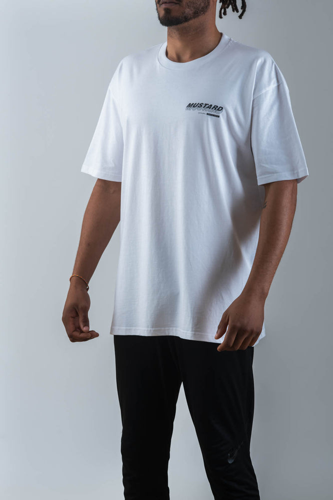 Mens Stackers Tee in White