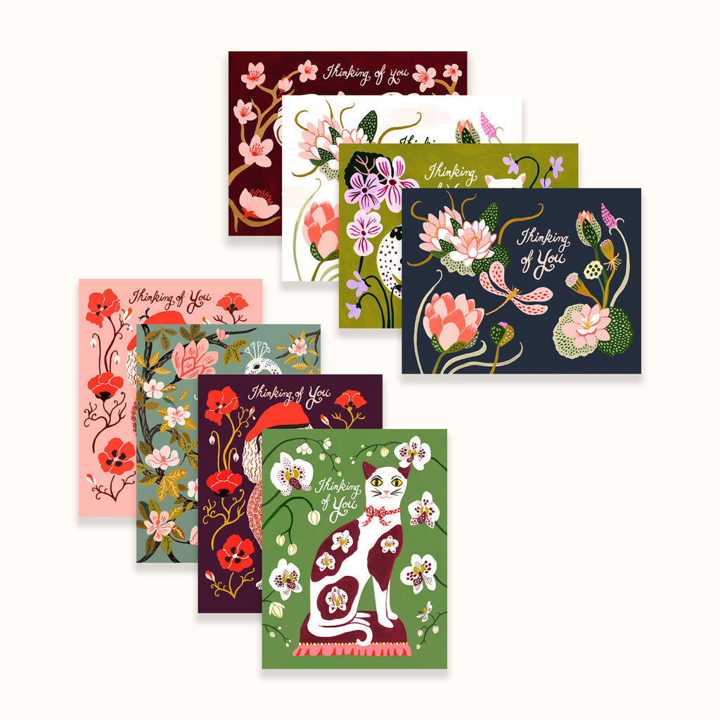 Illustrated greeting card set by Colee Wilkinson