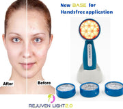 Rejuven Light 2.0 LED Light therapy w/ 4 Interchangeable heads