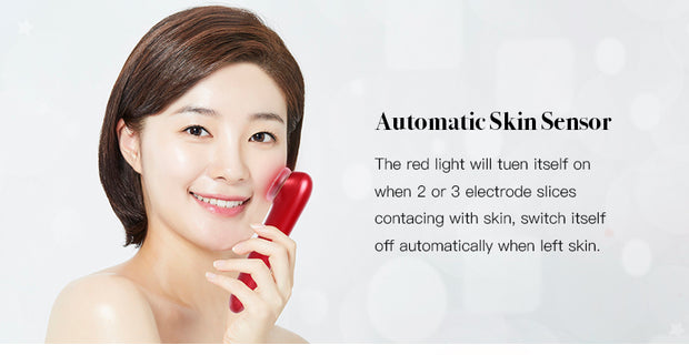 Scarlet Red FX Radio Frequency Anti-Aging Red & Blue Light Therapy Handheld Device w/Hyaluronic Toner Gel