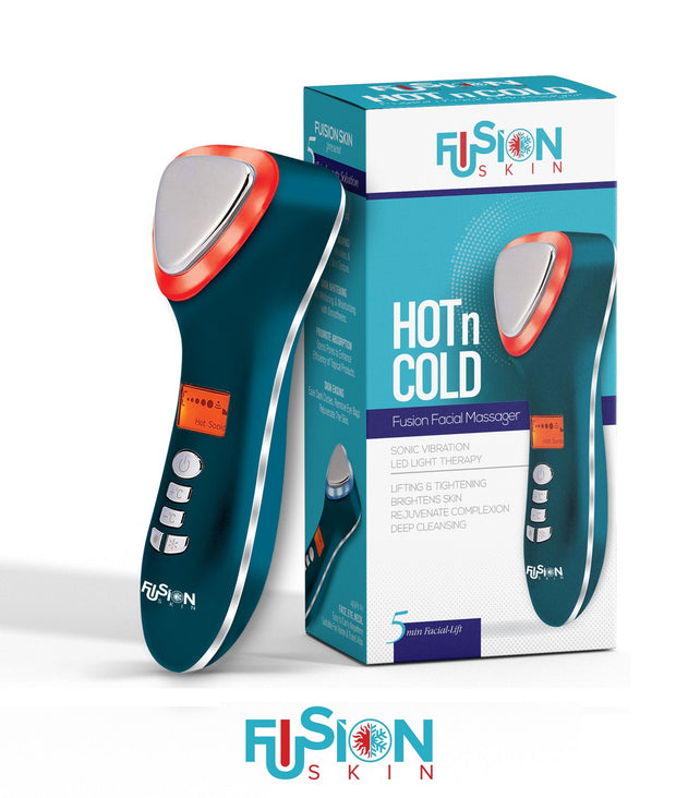 Fusion Skin Hot & Cold Dual Facial Massager Sonic Vibration Anti-Aging Device