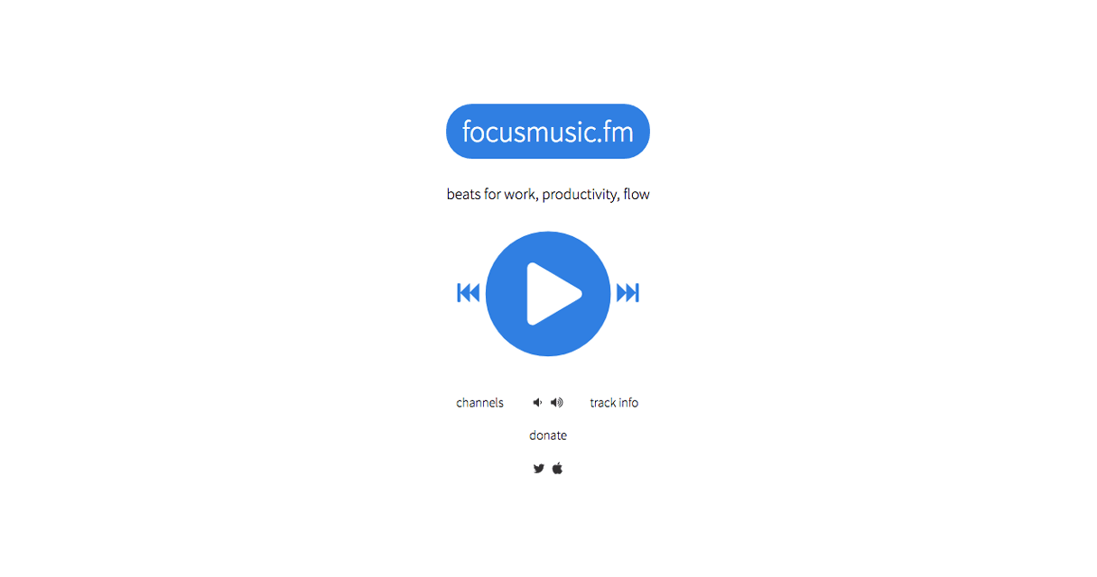12 free tools for remote developers and designers: Focusmusicfm