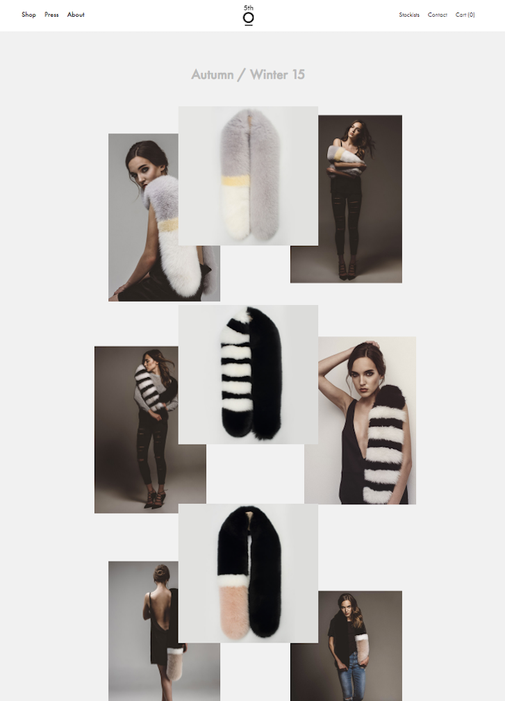 Lookbook Designs for a Fashion Website: 5th story