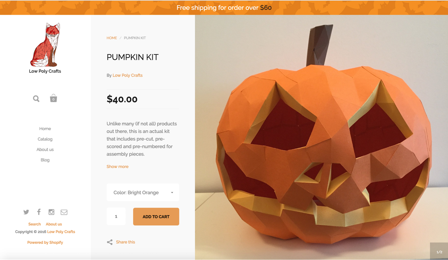 7 Ways to Spice Up Your Website for Halloween: Pumpkin Kit
