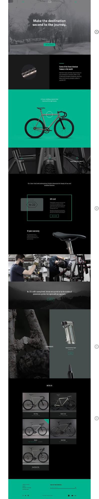 Building narrative shopify new theme for storytelling: Bike