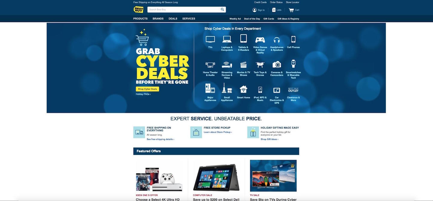 Designing Webpages For Christmas: Best Buy