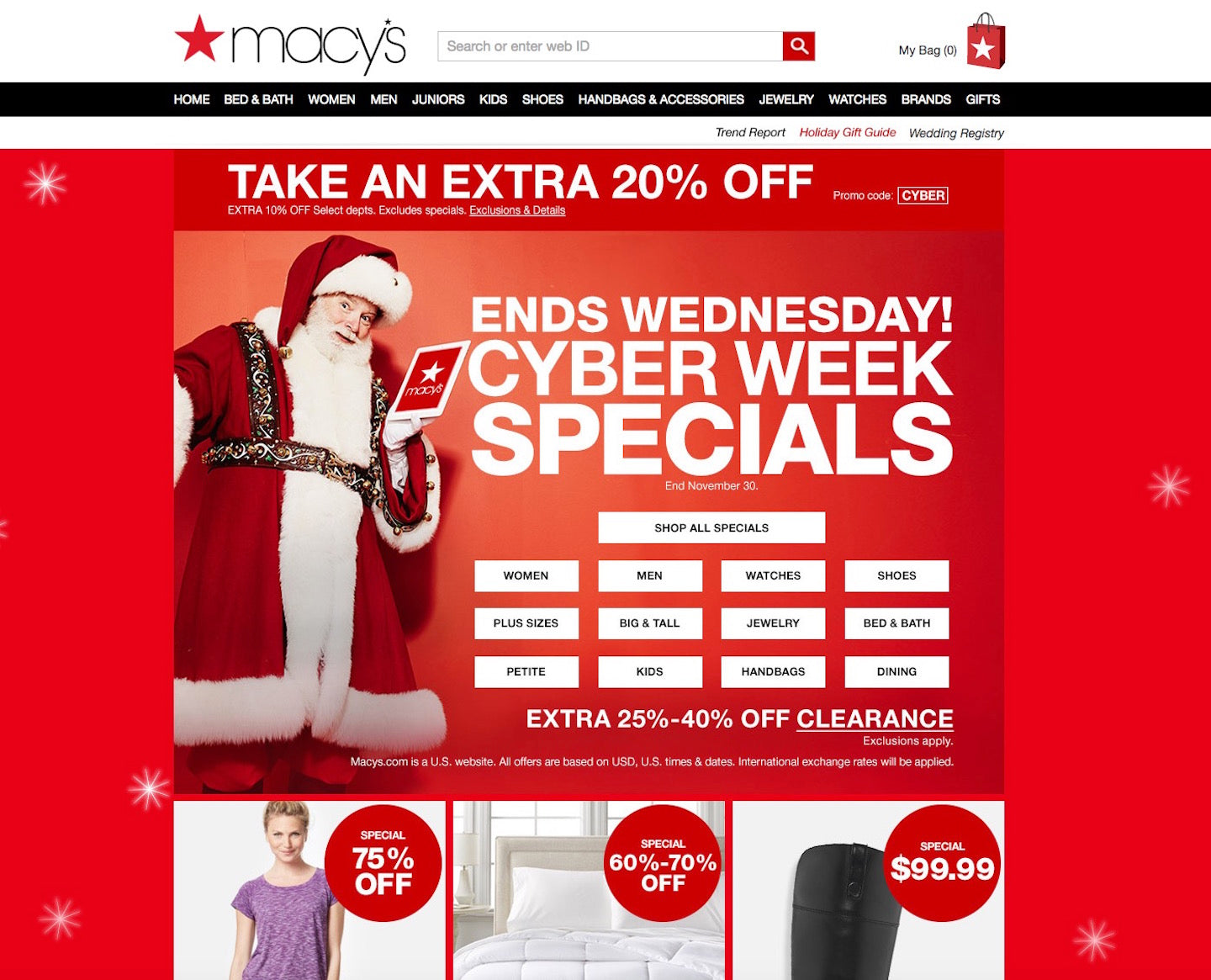 Designing Webpages For Christmas: Macy's