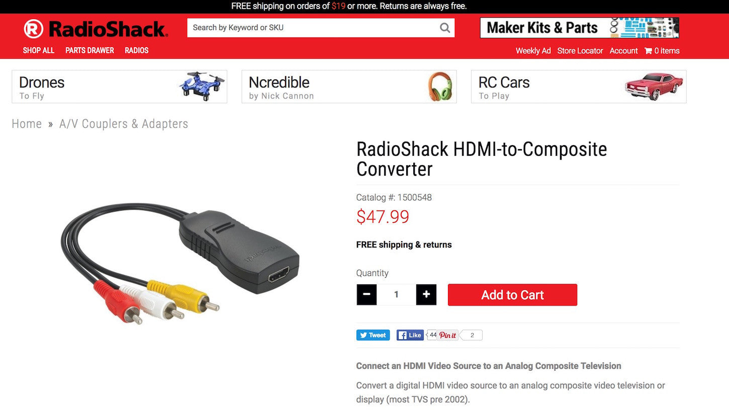 Designing social proof in ecommerce website: Radioshack
