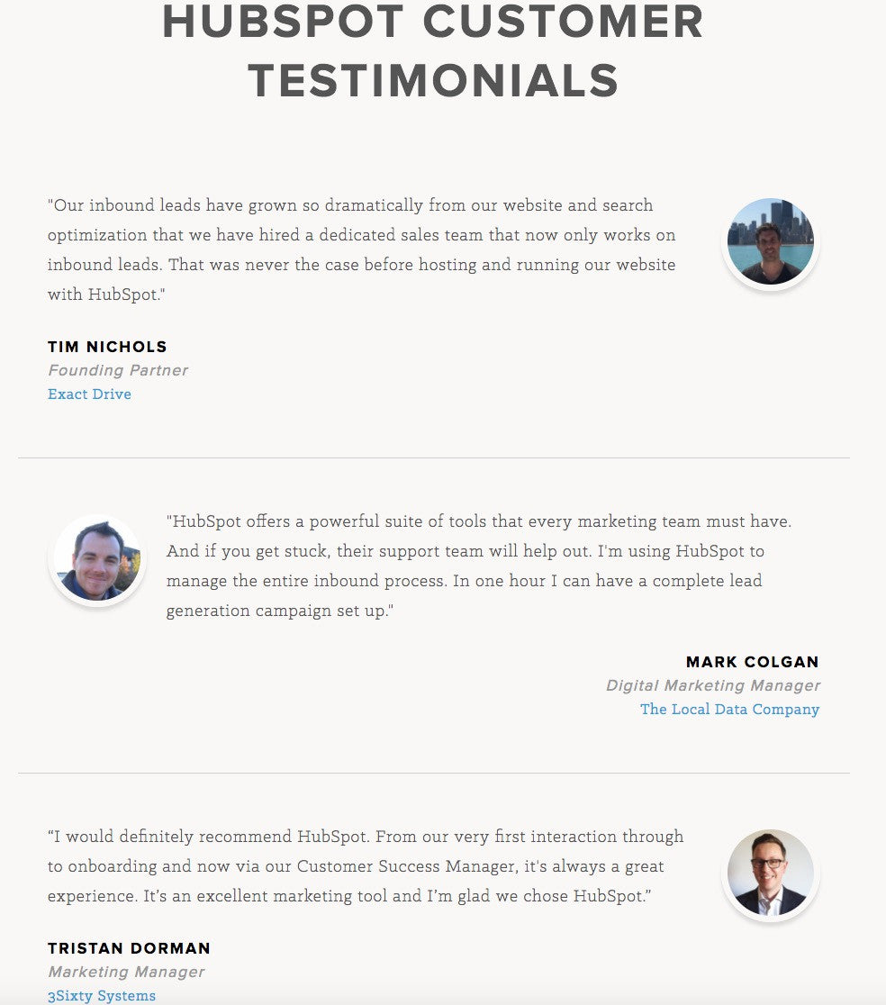 Designing social proof in ecommerce website: Testimonials