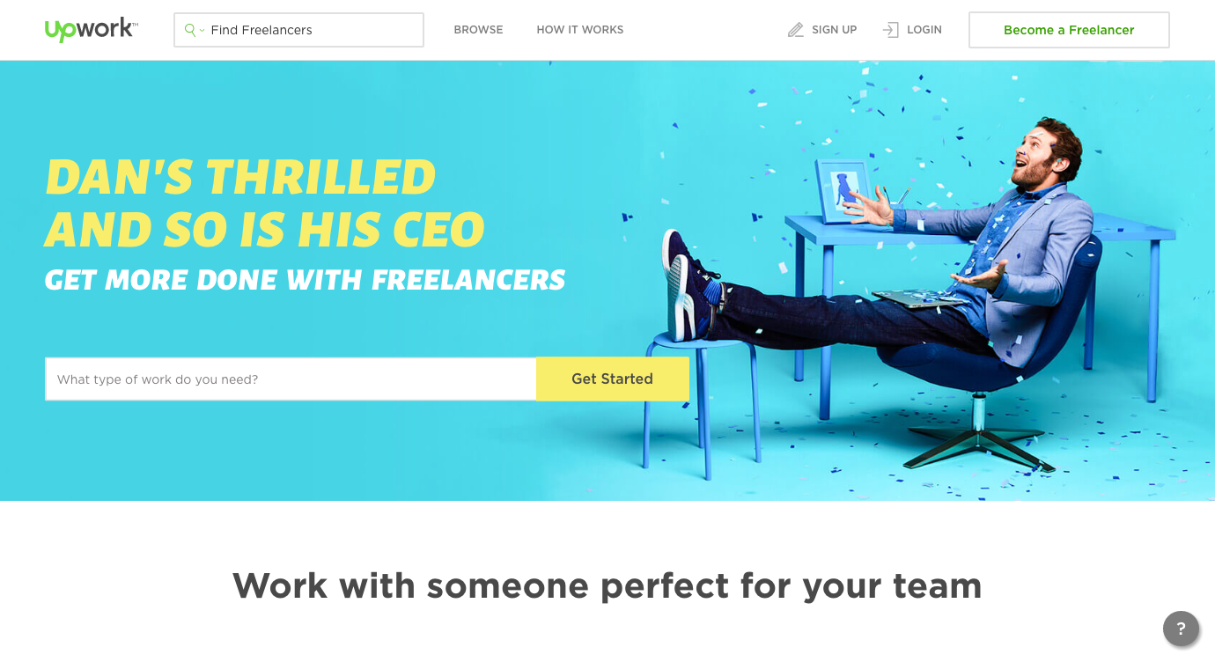 Finding web design clients: Upwork