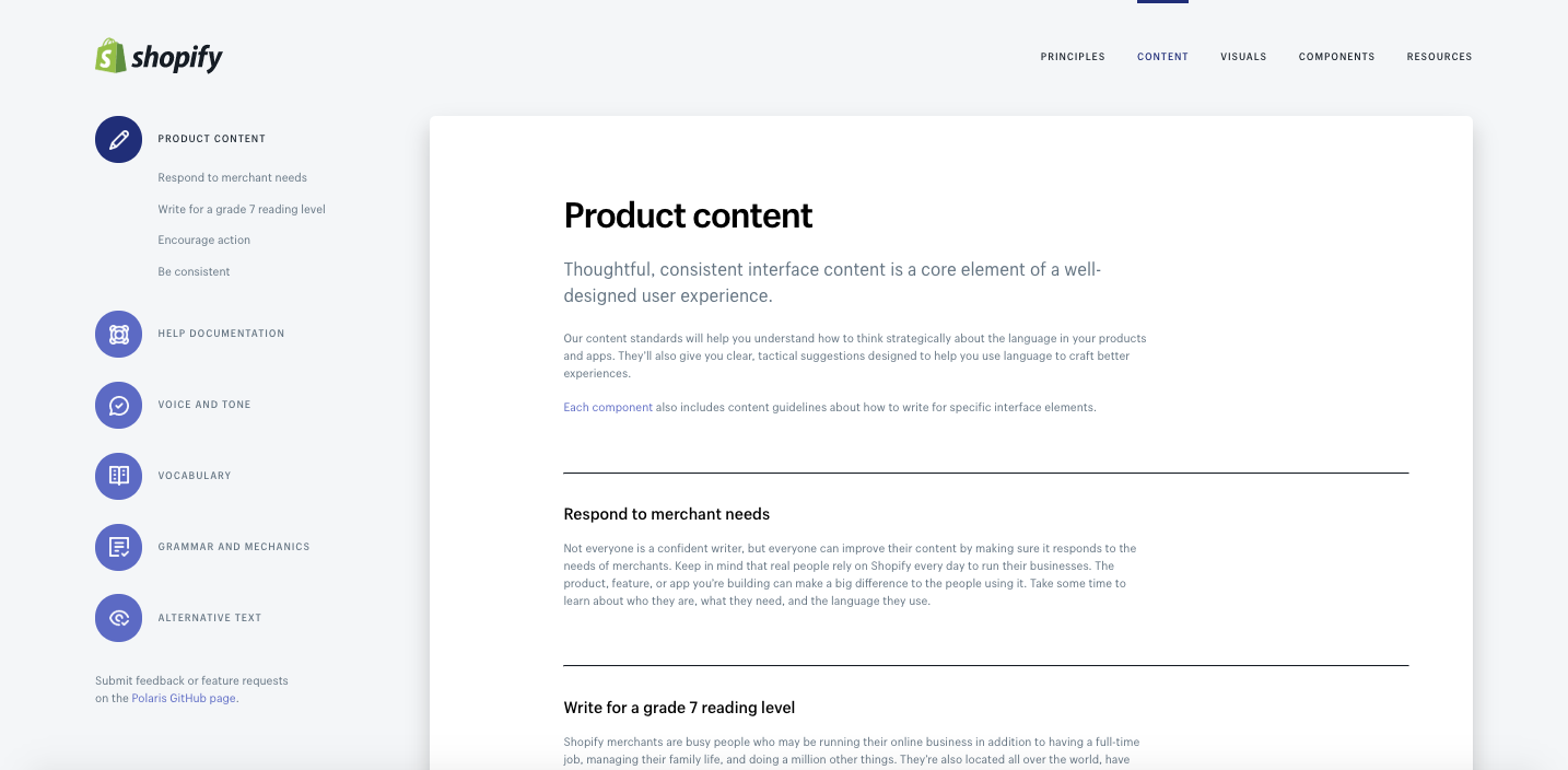 How to get the most out of polaris: Product content