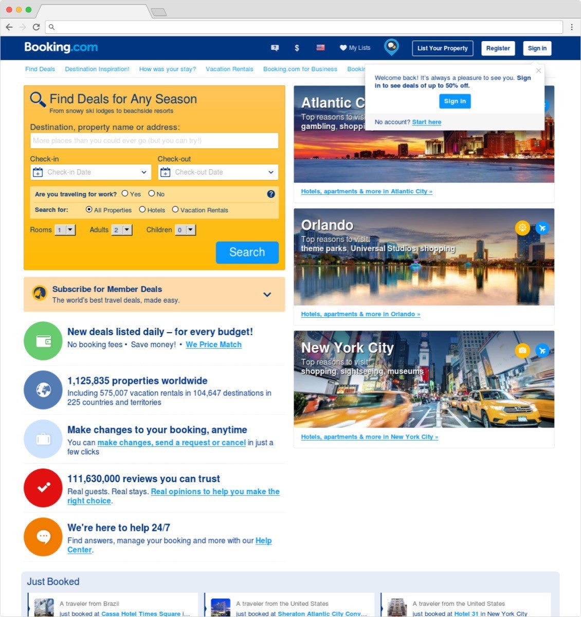 Increasing your online conversion: Booking