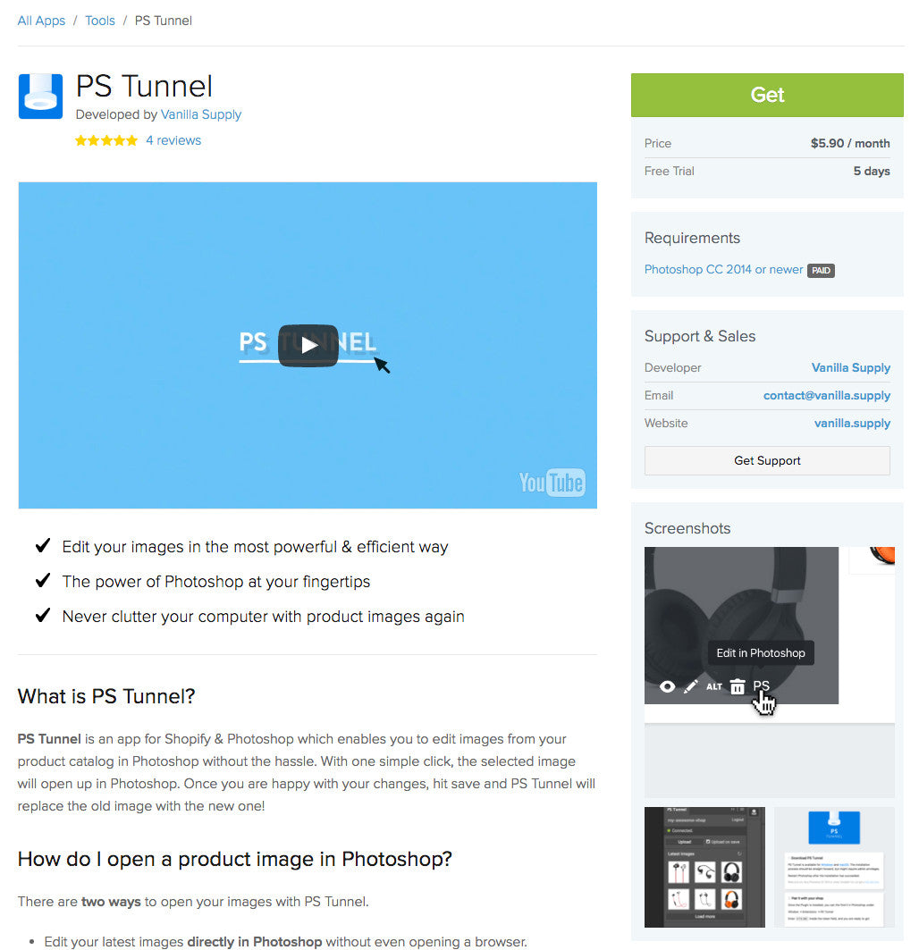 New guidelines and resources to get listed in shopify app store: PS Tunnel