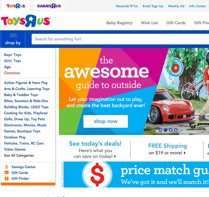 Reduce Bounce Rates: Toys R Us