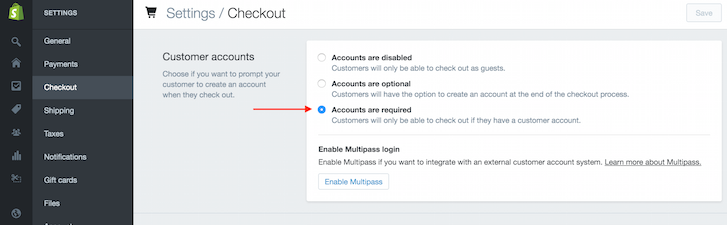 Adding account requirements to your Shopify wholesale store