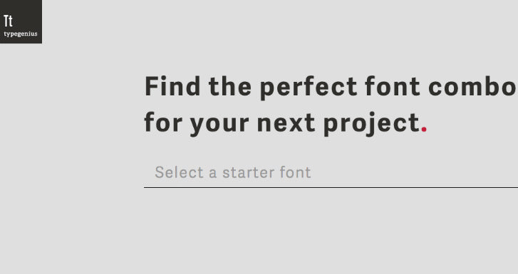 Type Genius Web Design Tool for Font Pairing
