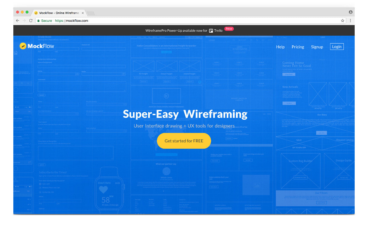 Wireframing tools 2017: Mockflow