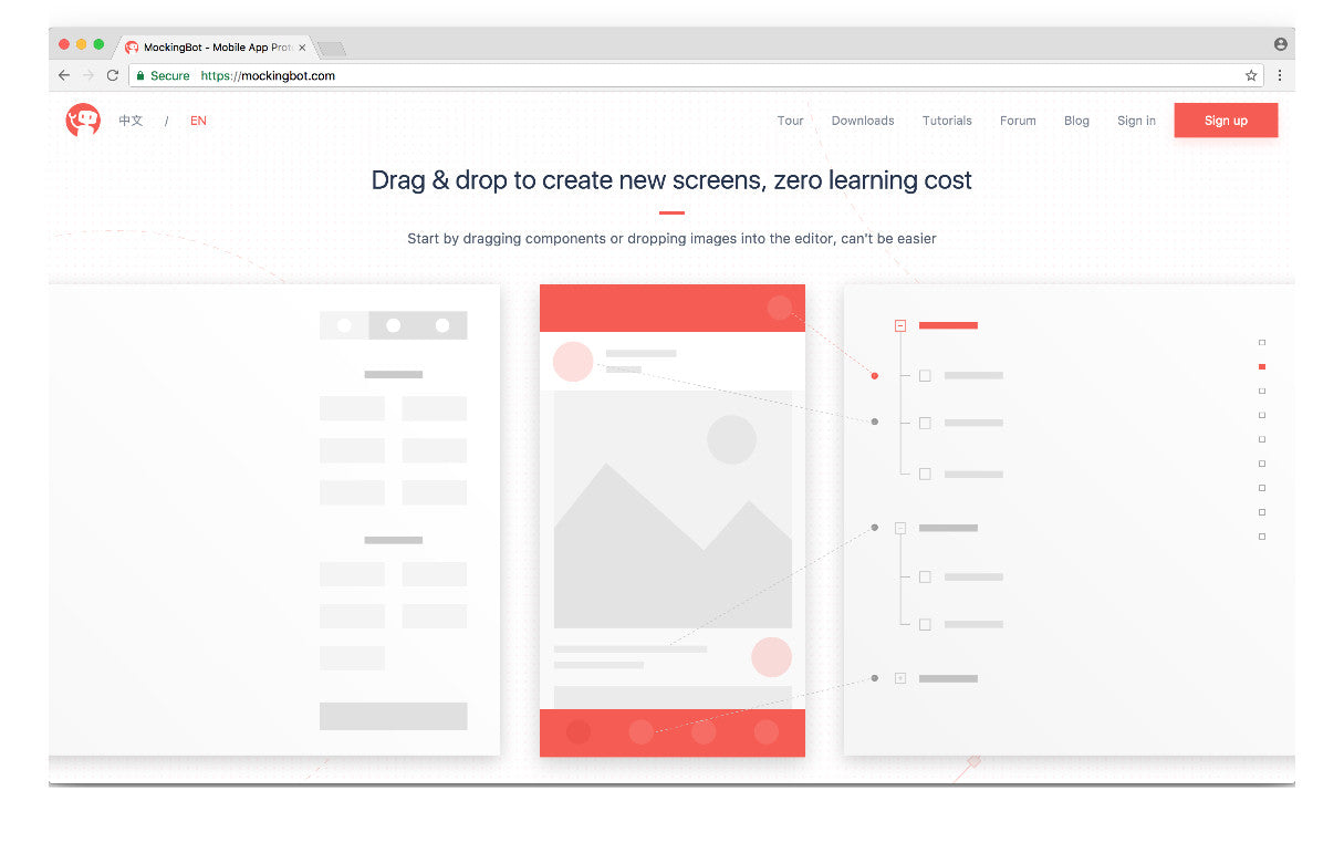 Wireframing tools 2017: MockingBot