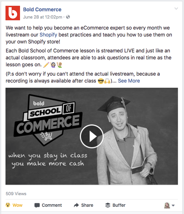 Actionable social media tips: Bold Commerce video