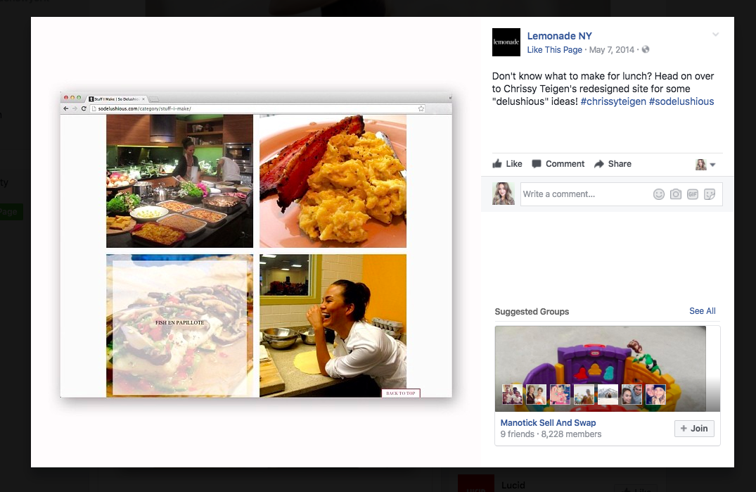 Actionable social media tips: Lemonade NY Facebook