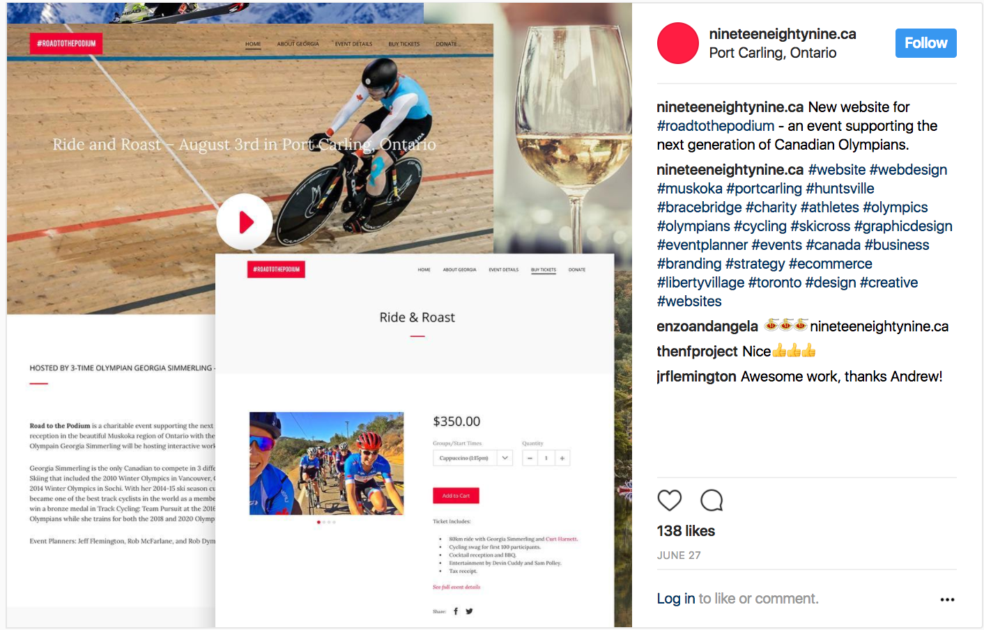 Actionable social media tips: Ninetenn Eighty Nine Instagram