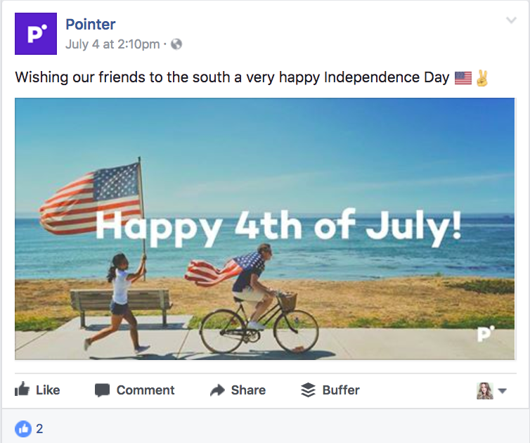 Actionable social media tips: Pointer Creative Independence Day
