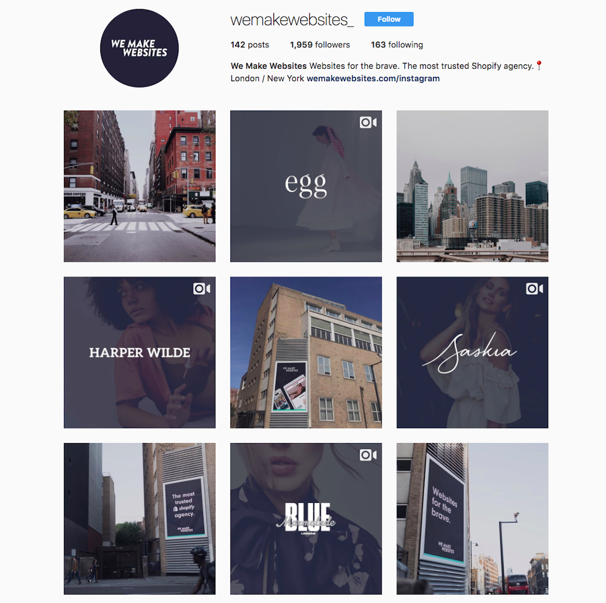 Actionable social media tips: We Make Websites Instagram